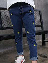 Pantaloni Da ragazza Con ricami Primavera Autunno