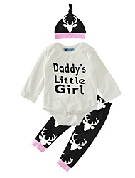 bebê Para Meninas Interior Ao ar Livre Casual Fashion Animal Conjunto,Desenhos Animados Primavera/Outono Inverno