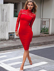 Women's Holiday Going out Casual/Daily Club Bodycon Dress,Solid Asymmetrical Mini Long Sleeves Polyester Fall Winter High Rise