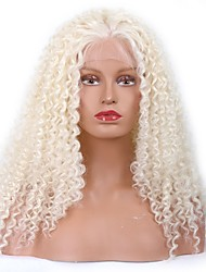 Women Synthetic Wig Lace Front Medium Kinky Curly White Middle Part Sew in 100% kanekalon hair With Baby Hair Natural Wigs Costume Wig