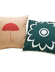 2 pçs Algodão/Linho Fronha almofada do sofá Almofada de Cama Almofada de Corpo Almofada de Vigem,Geométrica Cores Variadas Artística