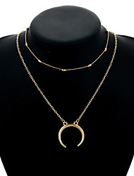 Women's Pendant Necklaces Moon Alloy Vintage Elegant Jewelry For Casual Formal