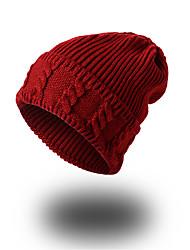 Унисекс Шапки Узор Головные уборы На каждый день Изысканный и современный Сохраняет тепло Вязаная одежда Вязаная шапочка Широкополая шляпа