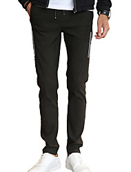 Men's Mid Rise Stretchy Chinos PantsActive Simple Slim Solid DC-002