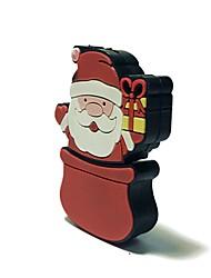8gb natal usb flash drive cartoon criativo santa claus presente de natal usb 2.0