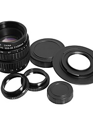 35mm f1.7 c montaje c-mount cctv lente c-m43 micro 4/3 adaptador macro anillo regalo lf012