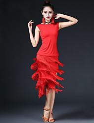 должны ли мы латинские танцы наряды женского исполнения модальные спандекс кисточки (ов) 2 шт без рукавов упал юбки топы