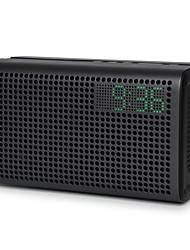 GGMM ES-201 Interior Bluetooth Apresentação da Hora Alarme Bluetooth 4.0 AUX 3.5mm Sistemas de Música para Vários Ambientes Cinzento Azul
