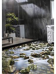 Estampado Fondo de pantalla Para el hogar Moderno Revestimiento de pared , PVC/Vinilo Material Auto Adhesivos papel pintado ,