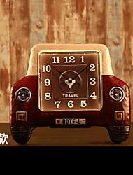 E-HOME® Retro Car Modelling Metal Wall Clock One Pcs