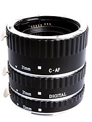 extcm foco automático tubo de extensión de metal macro para canon eos ef ef sls cameras