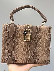 New Fashion Women Small Handbag/Shoulder bag/Box/Bag Snakeskin grain PU leatherette All Seasons Casual Outdoor Office & Career