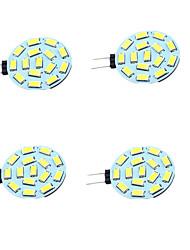 1W Luces LED de Doble Pin T 15 SMD 5730 200 lm Blanco Cálido Blanco Fresco Decorativa V 4 piezas G4