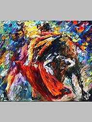 Pintados à mão Abstrato Artistíco Ao ar Livre 1 Painel Tela Pintura a Óleo For Decoração para casa