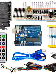 kt003 uno стартовый комплект с пластиной для хлеба / датчик / светодиодный светильник для деталей arduino diy