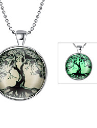 Men's Women's Pendant Necklaces Jewelry Tree of Life Silver Plated Fashion Jewelry For Daily