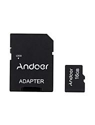 andoer 16gb classe 10 cartão de memória tf cartão adaptador leitor de cartão usb flash drive para câmera câmera de carro tabela de