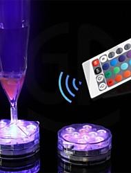 control remoto vela llevó la luz 10 leds cambio de color impermeable vela electrónica de iluminación de pescado de tanque de la lámpara de