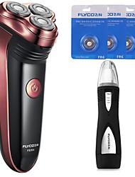 FlYCO FS301 Electric Shaver Razor Nose Device Three Spare Heads 220V Washable Head