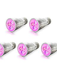 5W E14 E27 LED лампа для теплиц 5 Высокомощный LED 450-550 lm Красный Синий V 5 шт.