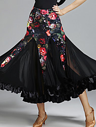 Für den Ballsaal Balletröckchen und Röcke Damen Aufführung Tüll Samt 1 Stück Normal Röcke