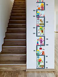 Животные Цветочные мотивы/ботанический Мода Наклейки Простые наклейки Декоративные наклейки на стены Линейка роста материал Украшение дома