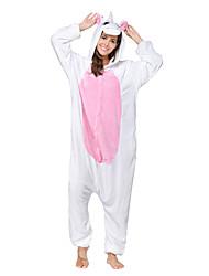 kigurumi Pyjamas Unicorn Collant/Combinaison Fête / Célébration Pyjamas Animale Halloween Rose Mosaïque polaire Kigurumi Pour Unisexe