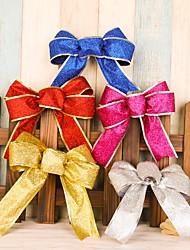 5pcchristmas tree decorations лук украшения украшение украшение украшение подвеска рождественский цветок для украшения вечеринки