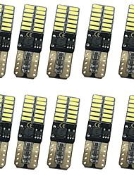 10pcs 12w 1000lm t10 can-bus ошибка бесплатно светодиодные лампы 3 цвета выборочно