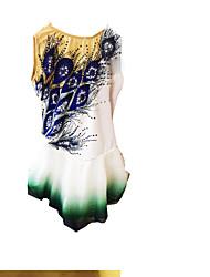 Жен. Без рукавов Катание на коньках Фигурное катание Зимние виды спорта Юбки Платья Эластичность Фигурное катание платье Спандекс Чинлон