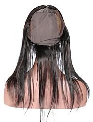 360 кружевных лобовых с крышкой парика прямые бразильские человеческие волосы 100% человеческие волосы remy 10-20