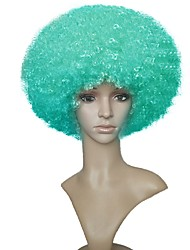 Women Synthetic Wig Capless Short Jheri Curl Green Party Wig Celebrity Wig Halloween Wig Cosplay Wigs Natural Wig Costume Wig