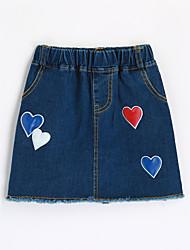 Girls' Print Skirt-Cotton Summer