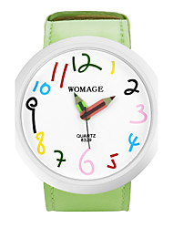 Women's Cute Big Dial Pencil Pointer Design Strap Watch PU Band Quartz Wrist Watch (Assorted Colors) Cool Watches Unique Watches