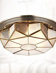 120 watts de europa tipo cobre lâmpada sala de estar quarto lâmpada luz rural dome luz circular domo luz americana criativa varanda