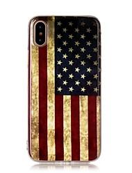 Para iPhone X iPhone 8 iPhone 8 Plus Case Tampa Ultra-Fina Estampada Capa Traseira Capinha Bandeira Macia PUT para Apple iPhone X iPhone