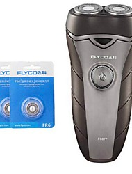 FLYCO FS877 Electric Shaver Razor Two Spare Heads 100240V Washable head
