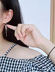 Жен. Серьги-слезки Мода Простой стиль Сплав В форме листа Треугольной формы Бижутерия Назначение Повседневные