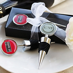 """Chrome Bottle Favor-1Piece/Set Bottle Stoppers Classic Theme Non-personalised Red 3 1/2"""" x 1 1/4"""" (8.9*3.2cm)Gift box with a organza"""