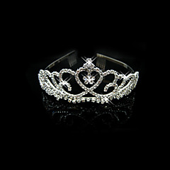 Vrouwen / Bloemenmeisje Licht Metaal Helm-Bruiloft / Speciale gelegenheden Tiara's Helder Vierkant