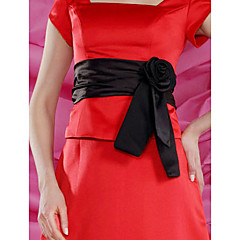 Satin Wedding / Party/ Evening Sash-Floral Women'sBlack / Brown / Ivory / White / Champagne / Fuchsia / Royal Blue / Burgundy / Chocolate