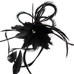 Vrouwen Veren Helm-Bruiloft / Speciale gelegenheden / Informeel / Buiten Fascinators / Bloemen