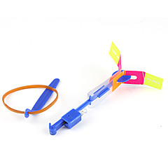 Fliegende LED Hubschrauber - Schirm- Libelle mit Gummi Antrieb (2 Farben LED / 1 Set)