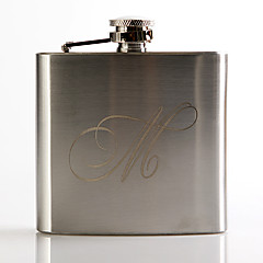 Gift Groomsman Personalized Metal 5-oz Flask - Initial
