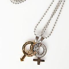 colar de gênero símbolo (conjunto de 2)