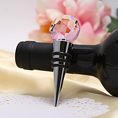 Faceted Crystal Ball Top Bottle Stopper
