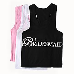 Noiva Dama de Honor Presentes Piece / Set Vestuário Glamorouso Clássico Moderno Casamento 100% Algodão Vestuário Rosa Branco PretoBolsa