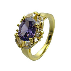 18K Gold Platted & Top Level Cubic Zirconia Ladie's Fashion Ring(More Colors)