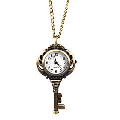Elegant Alloy Ancient Key Design Necklace Watch