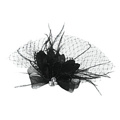 Women's Feather / Tulle Headpiece-Special Occasion Birdcage Veils